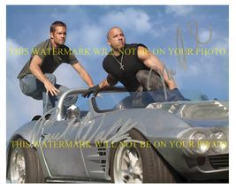 VIN DIESEL AND PAUL WALKER AUTOGRAPHED 8x10 RP PHOTO THE FAST AND FURIOU... - $15.99
