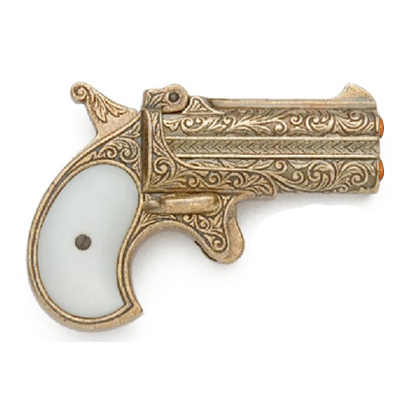 Primary image for 1866 Remington Derringer Gold Replica Gun prop double barrel old west