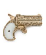 1866 Remington Derringer Gold Replica Gun prop double barrel old west - $45.50