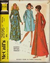 Part Cut 1970s Size M Bust 34 36 Raglan Sleeve Robe McCalls 2696 Pattern - $6.99