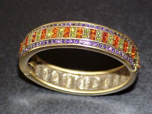 "HEIDI DAUS Multicolor Crystal 6-3/4"" Bangle Bracelet"