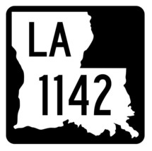 Louisiana State Highway 1142 Sticker Decal R6374 Highway Route Sign - $1.45+