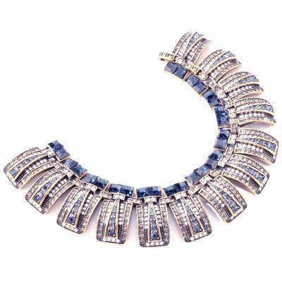 Heidi Daus Egyptian Queen Crystal 7 inches Link Bracelet