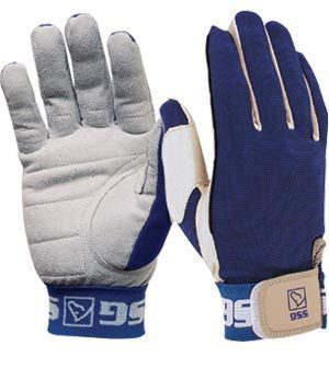 Primary image for SSG Team Roper Suede Palm Glove style 1000 x-Large Rt Hand Blue rodeo roping