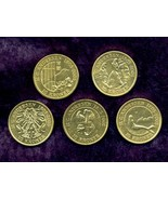 5 Danish 10-kr. Coins, Royal Danish Mint, Hans Christian Andersen's Fair... - $38.95