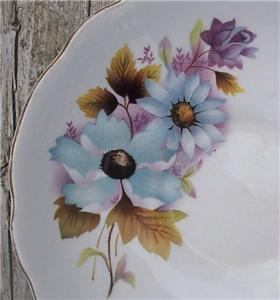 Old Regency Bone China Saucer Flowers #RE3001