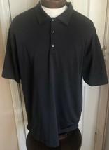 Nike Golf Black Short Sleeve Athletic Polo Men's L - $14.84