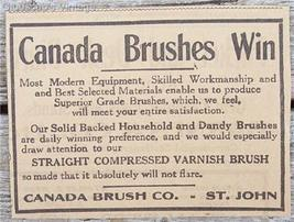 1917 Canada Brushes Win Dandy Varnish Saint John NB Ad - $2.50