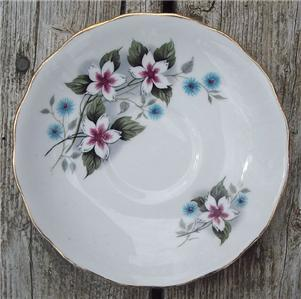 Old Royal Vale Bone China Saucer Starflower #RV3001