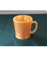 Fire King D Handle Peach Lustre Coffee Mug Good Condition - $7.00