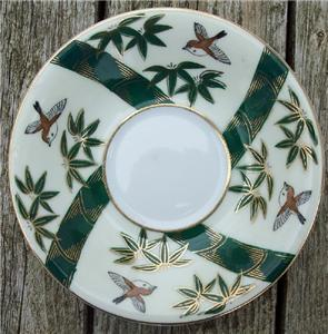 Old Shafford Hand Painted Japan Saucer Bamboo #SH2001