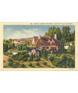 Robert Montgomery Home Beverly Hills Post Card Linen Era - $5.00