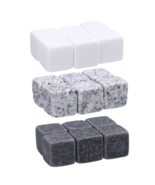 6pcs Natural Whiskey Stone Set Sipping Ice Cubes Whisky Stones Rocks Coo... - $7.95