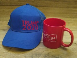 Donald Trump 2020 Baseball Hat And Red Make America Great Again Mug - $24.75