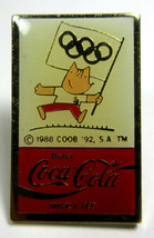 Vintage Coca Cola Coke Beba Barcelona 1992 Olympics Lapel Pins Track, Sw... - $2.99