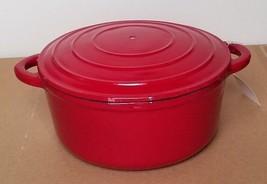 Ruff Hewn 3 Qt Red Cast Iron Covered Casserole ... - $49.99