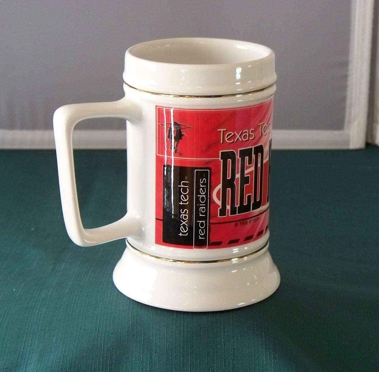 Texas Tech 28 Oz Mug Stein Red & Black VGC