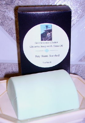 Bay Rum Scented 5oz Bath Bar Soap with Emu Oil