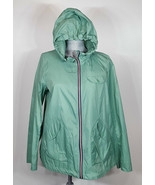 Bernardo Packable Green Hooded Rain Jacket (Regular & Petite) Women's Si... - $22.39