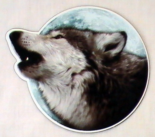Howling Wolf Auto or Locker Magnet Advanced Graphics