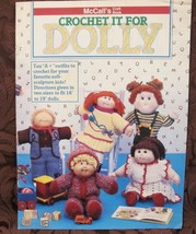 McCall's Crochet It For Dolly 10 DOLLS Crochet Patterns VINTAGE 16 and 1... - $9.95