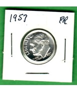 1957 Roosevelt silver Dime proof - $6.00