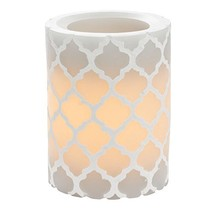 Sterno Home CGT11848GY Carved Quatrefoil Pillar with 5-Hour Timer, 3 4-I... - $16.80