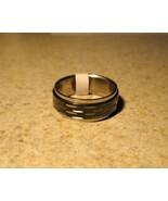 RING MEN WOMEN UNISEX STAINLESS BLACK KNOTCH SI... - $8.99