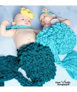 Hand crocheted merman costume/photography prop for baby/infant/newborn - $45.00