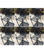 Outdoor dining chairs set of 6 cast aluminum patio furniture rust free - $1,134.54