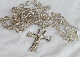 Rosary with purple diamond glass beads - $26.00