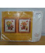 Creative Circle 0528 Pots of Flowers 2 Crewel Needlework Designs Parfion... - $24.12