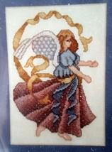 Angel Cross Stitch Kit Christmas Sugarplum Express 409 Burgundy 4 x 6 in - $18.00