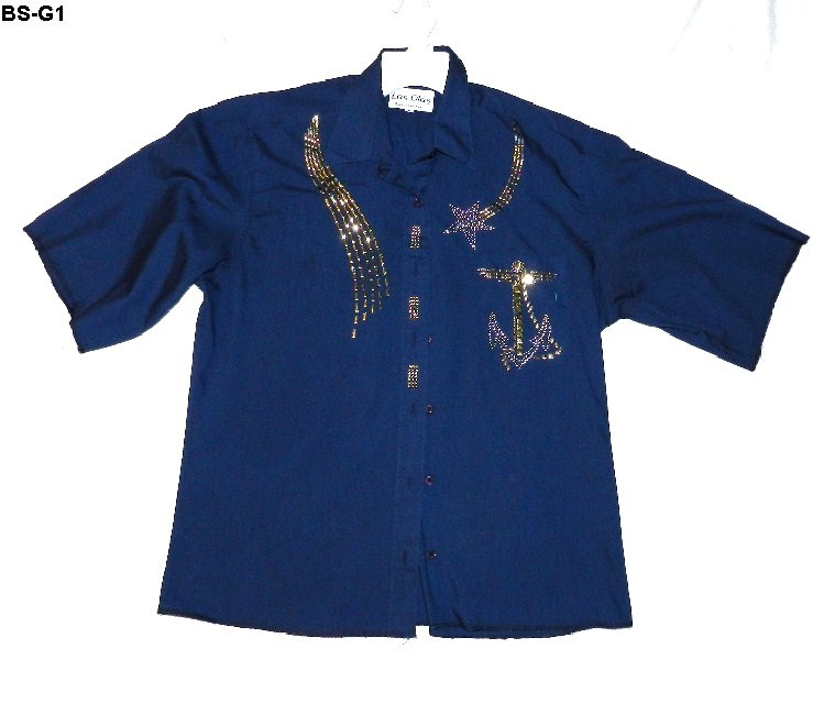 Bs g1 blue anchor shirt