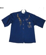 Las Olas Blue Size Medium Decorated Shirt - $7.99