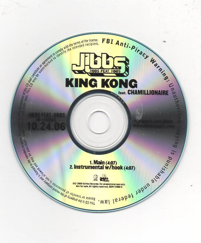 Jibbs FT. Chamillionaire King Kong 2 Track CD Promo