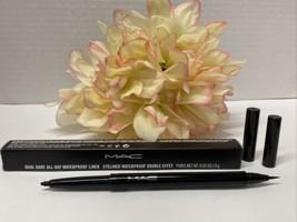 Mac Dual Dare ALL-DAY Waterproof Eye Eyeliner -DARE BLACK- Double Effect Nib - $13.81