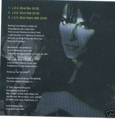 Esza Kaye Walking Down Madison 3 Track CD L.E.X. Mixes