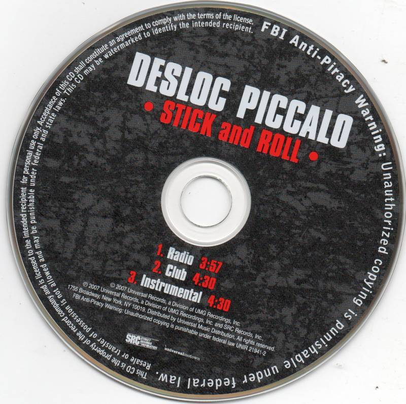 Desloc Piccalo Stick and Roll 3 Track CD