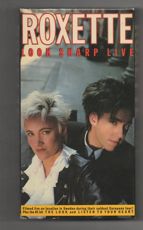 Roxette Look Sharp Live (VHS, 1989)