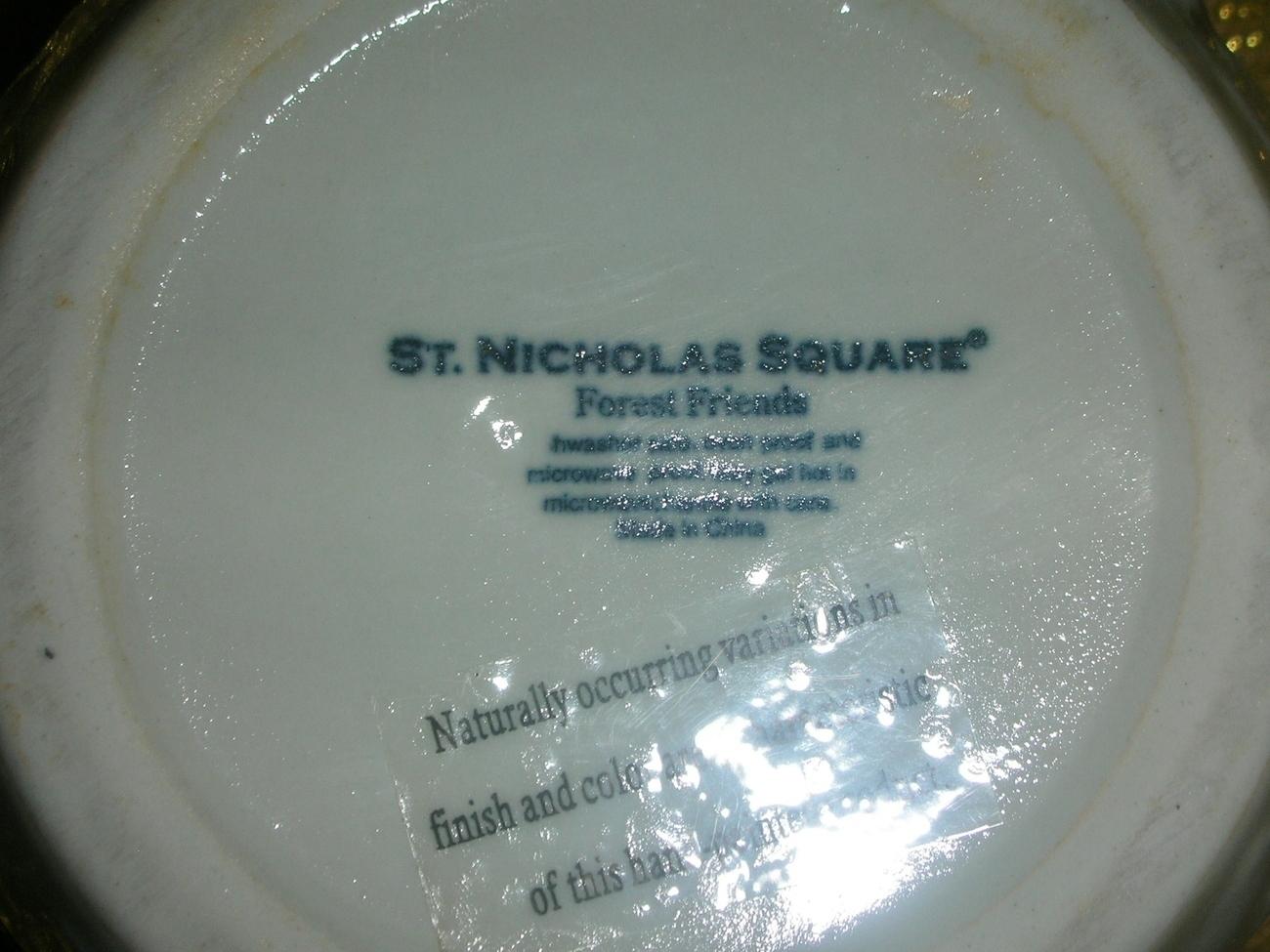 St. Nicholaus Square Forest Friends Serving  Bowl