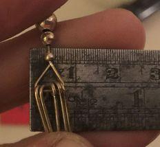 VTG 80s Long Dangling Silver Wire/Beaded Fish Hook Boho Punk Pierced Earrings image 10
