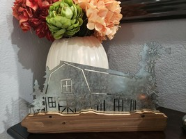 THANKSGIVING WELCOME FALL BARN WINDMILL TREES CUT OUT HOME DECOR METAL SIGN - $34.99