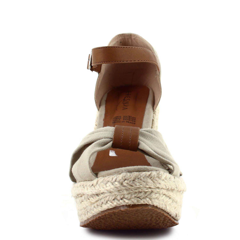 Women's Ceresnia beige espadrille peep-toe wedge sandal