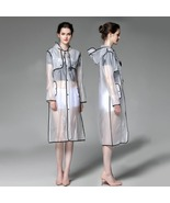 White Transparent Women Raincoat Long Waterproof Windbreaker Poncho - $20.99