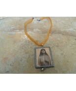 Mirror Pendant and Ribbon Necklace - $10.00