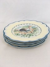 """Lenox Provencal Garden Rooster 9 1/2"""" Set of 4 Salad Luncheon Plates (4) - $58.41"""