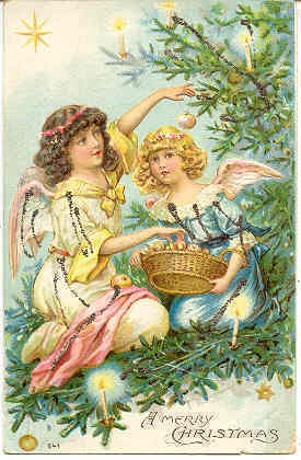 Merry Christmas 1906 German Post Card