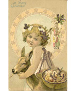 A Merry Christmas Vintage 1906 Post Card - $6.00