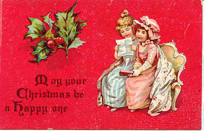 May Your Christmas Be a Happy One Vintage Post Card